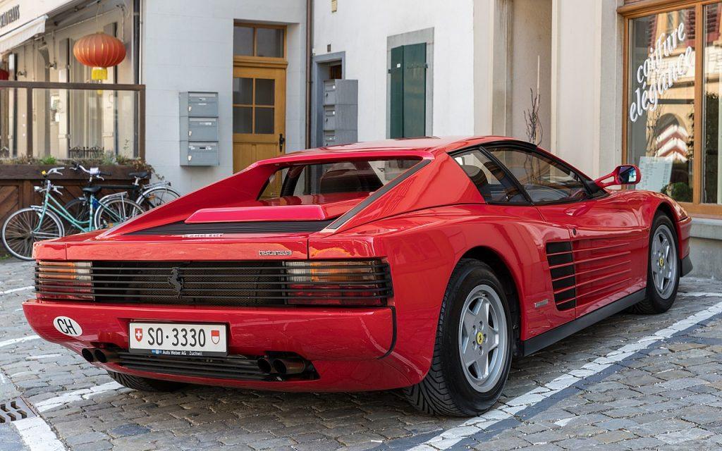 Ferrari Testarossa parked in italy