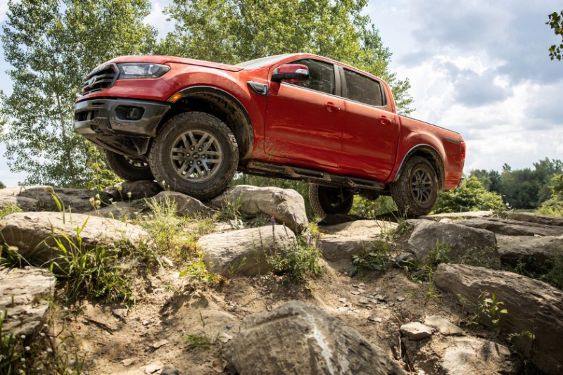 2021 Ford Ranger Tremor off-roading