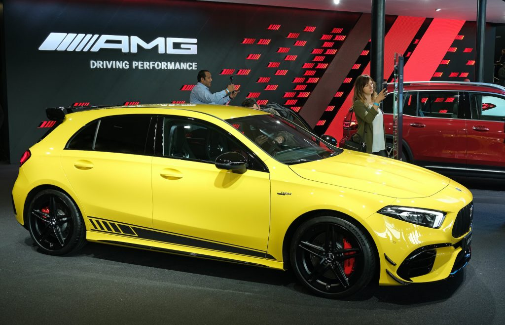 A photo of the Mercedes A 45 Hatchback