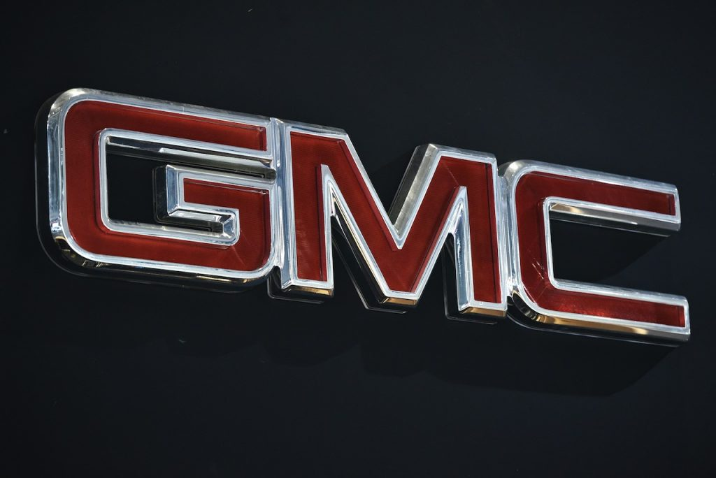 A close up image of the GMC Logo