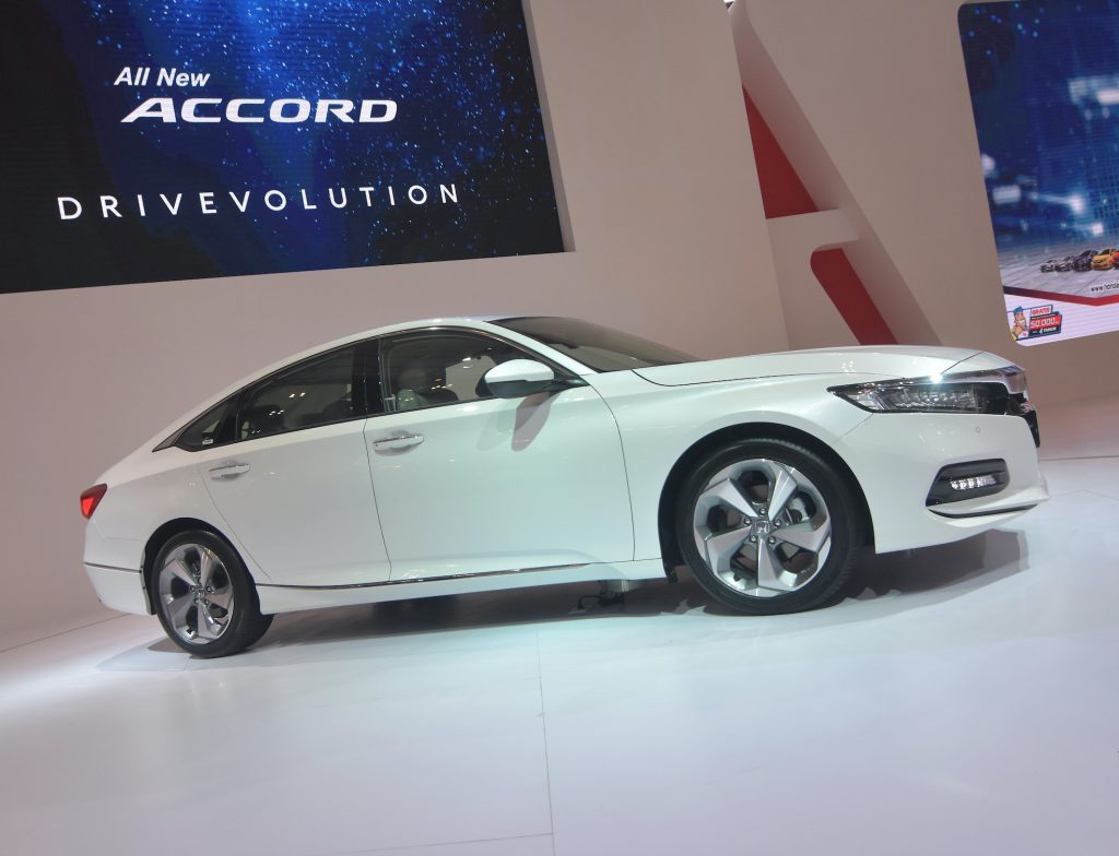 A Honda Accord displayed at the Convention Exhibition during the Motor Show in Tangerang