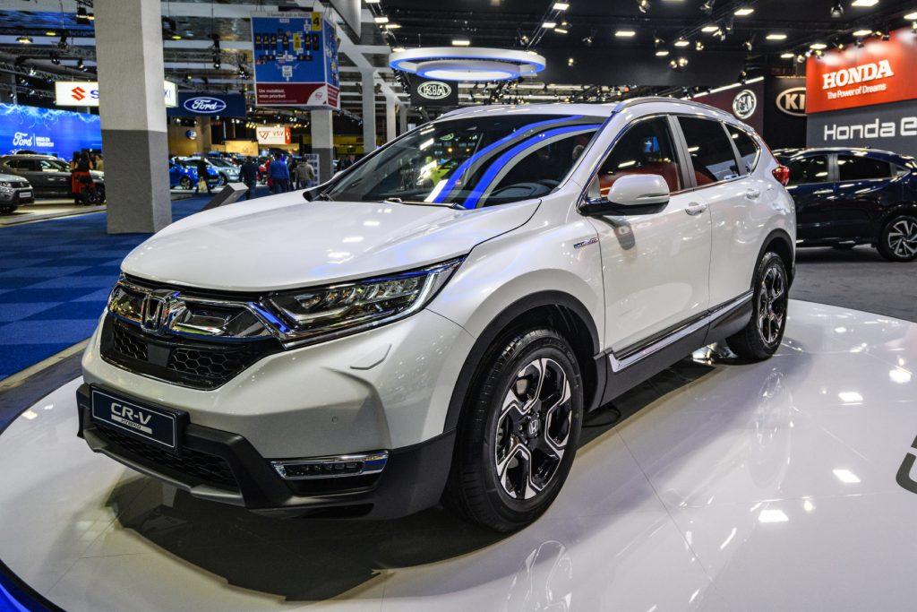 2020 Honda CR-V on display in a showroom