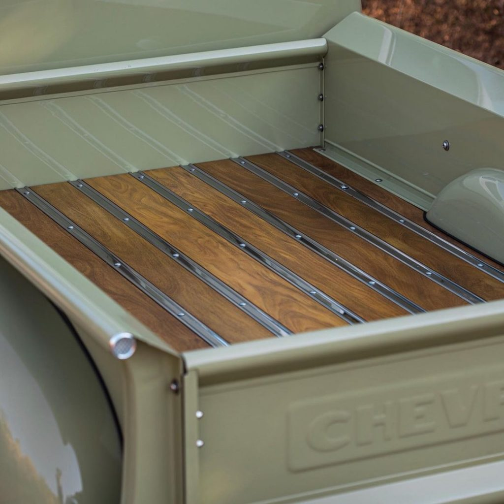 The Icon 4x4 Old School Edition Thriftmaster's African-teak-and-stainless-steel bed