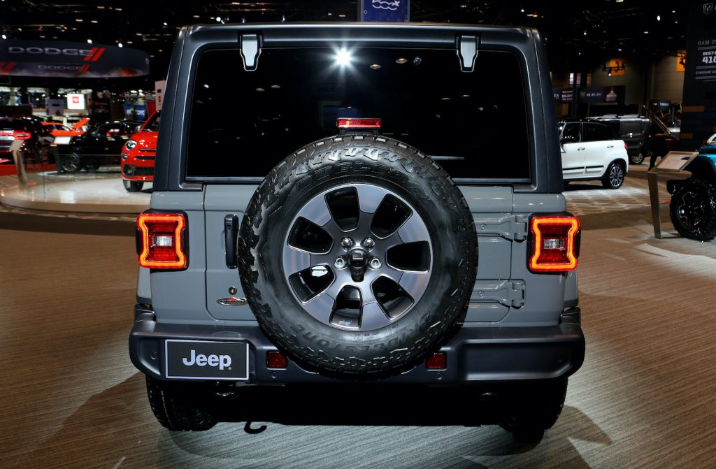 2020 Jeep Wrangler Sport is on display at the 112th Annual Chicago Auto Show. This Off-roader regularly floats around the bottom of every consumer reports reliability list.