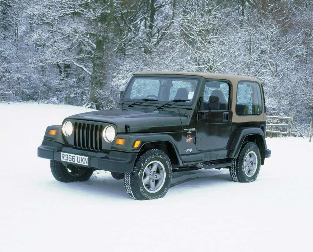 1997 Jeep Wrangler Sahara in the snow