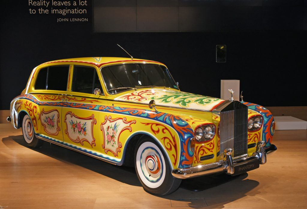 attends the world premiere of the 'The Great Eight Phantoms - A Rolls-Royce Exhibition' at Bonhams