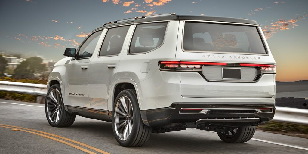 2022 Grand Jeep Wagoneer Concept from behind