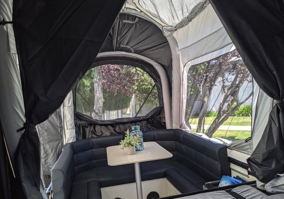On the inside, the Opus Lite is comfortable and airy.
