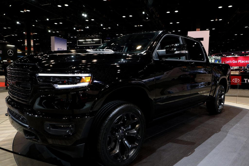 2020 RAM 1500 truck is on display at the 112th Annual Chicago Auto Show