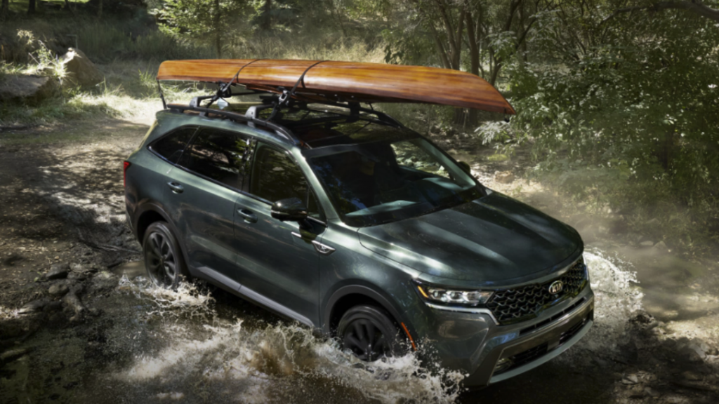 2021 Kia Sorento off-roading through stream