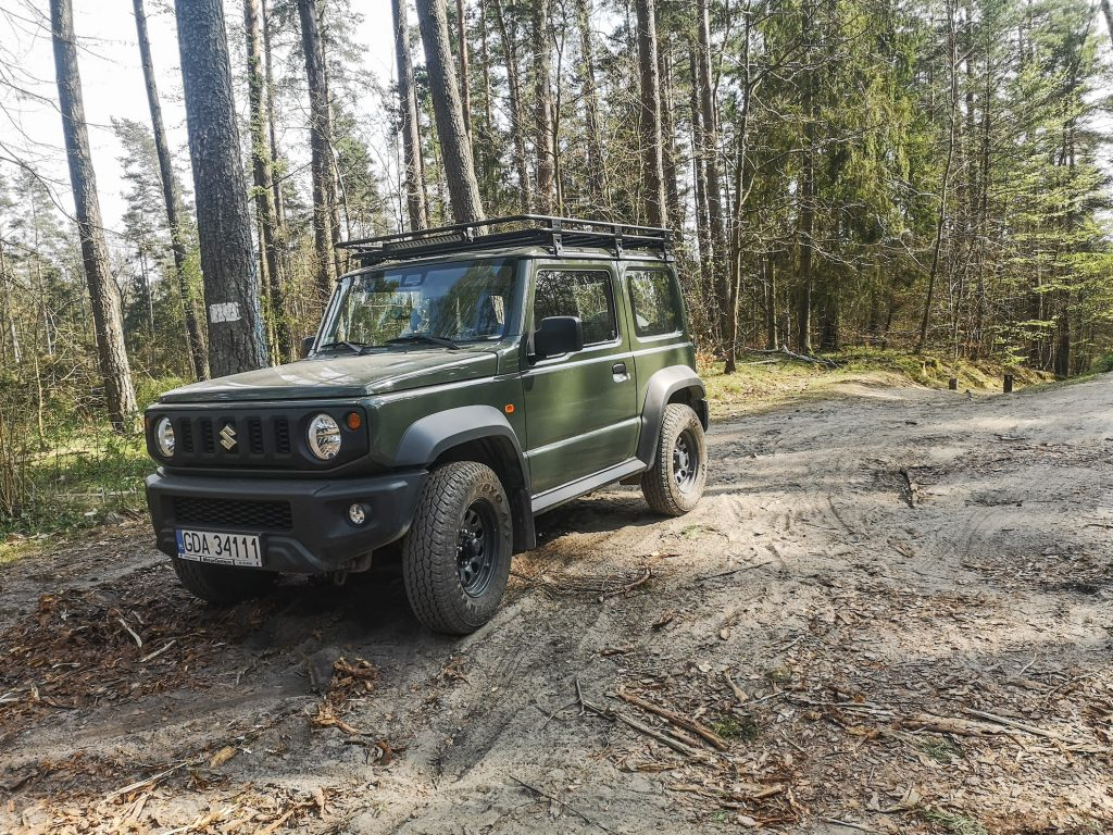 Nato green colored New Suzuki Jimny 4x4 is seen in Otomin