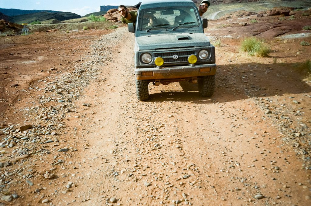 Suzuki Jimny in Moab. Pete and Neal