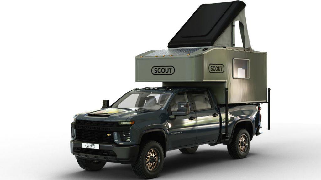 Scout Kenai Camper in truck bed