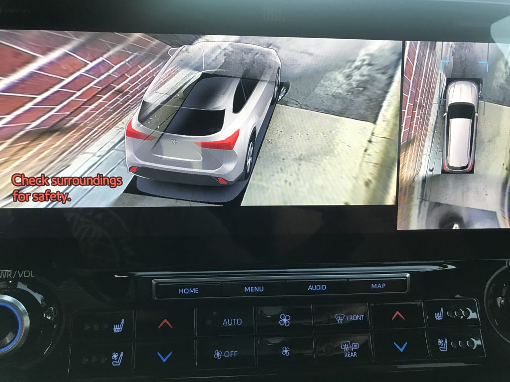 2020 Toyota Highlander Hybrid Bird's Eye View