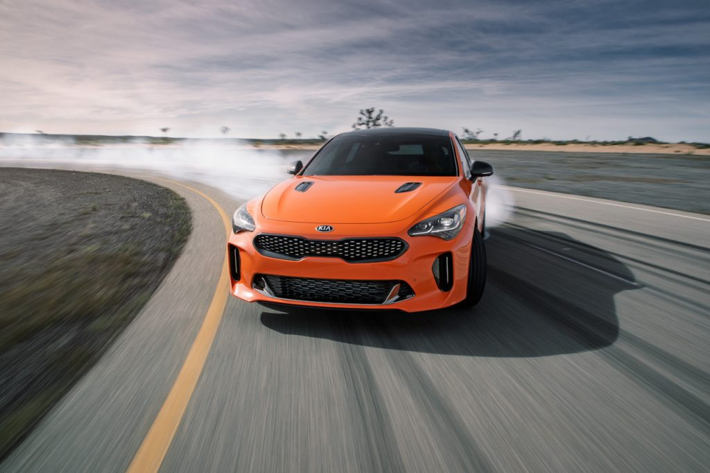 The Kia Stinger is an affordable sporty sedan with rear-wheel drive.