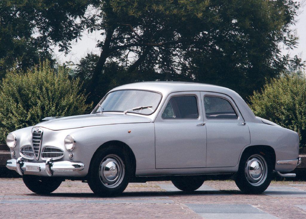 A silver 1951 Alfa Romeo 1900