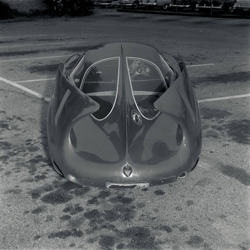 The rear view of the 1954 Alfa Romeo BAT 7