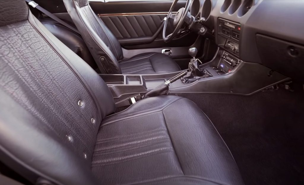 The interior of a recently restored 1976 Datsun 280Z.