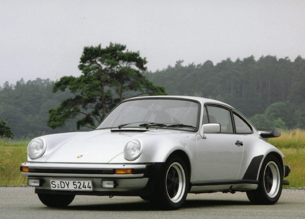A silver 1980 Porsche 930 911 Turbo
