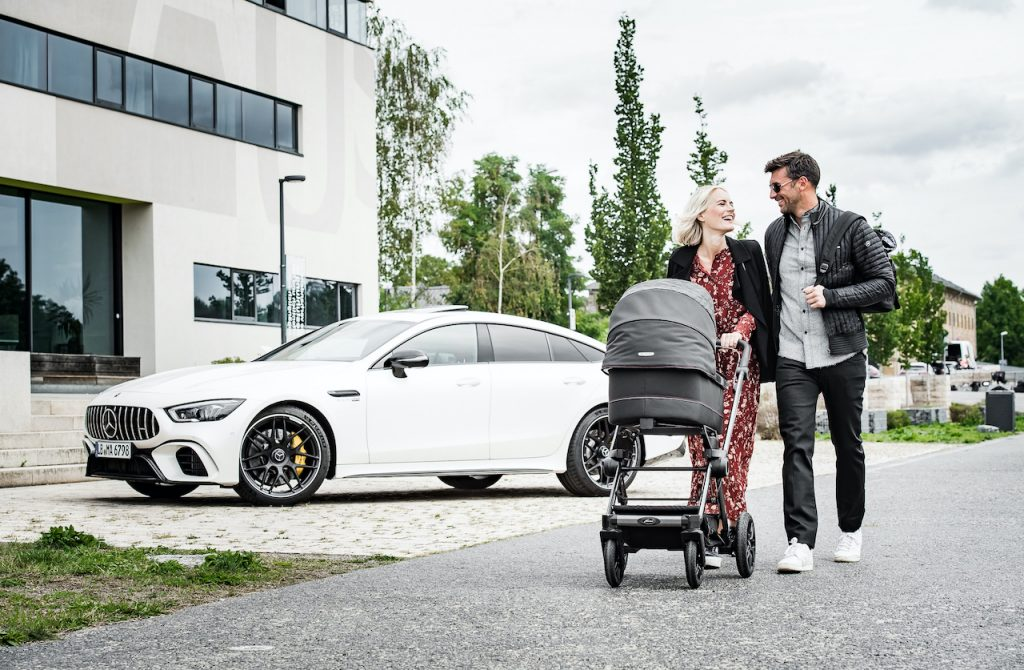 The Mercedes-AMG and Hartan stroller brand collaborated on a new limited edition stroller collection.