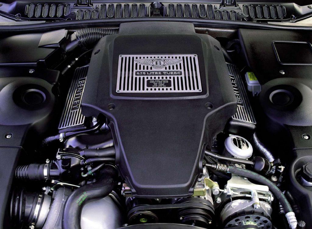 The 2000 Bentley Arnage Red Label's 6.75-liter turbocharged V8