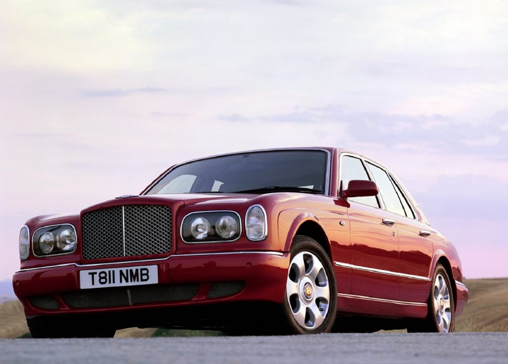 A red 2000 Bentley Arnage Red Label