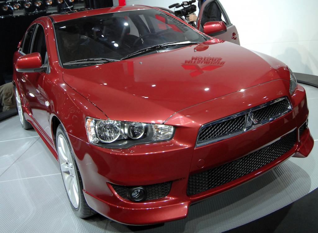 red 2008 Mitsubishi Lancer
