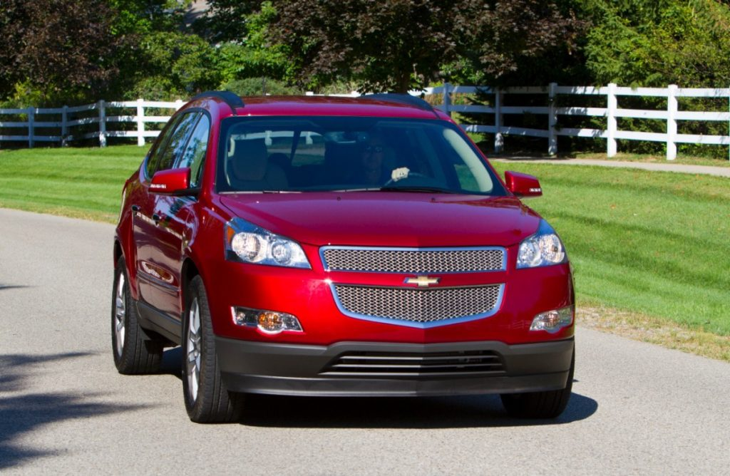 red 2012 Chevy Traverse