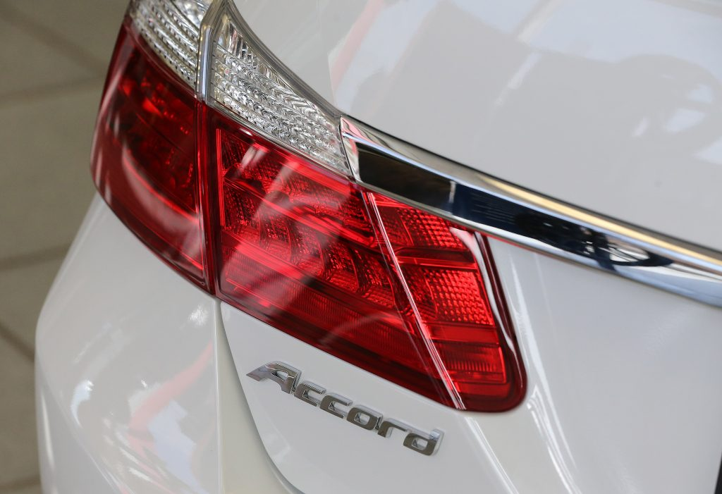 A close up shot of a Honda Accord taillight