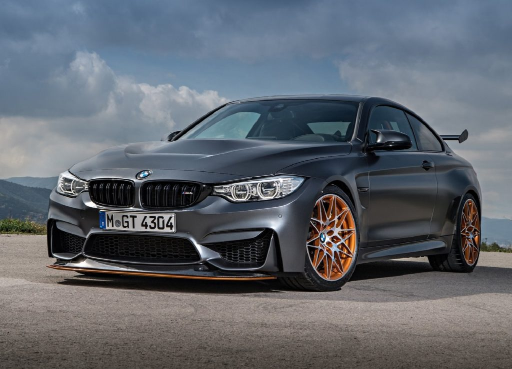 The MBW M4 like this sporty gray one parked on pavement made the list of cars to avoid according to CarWow