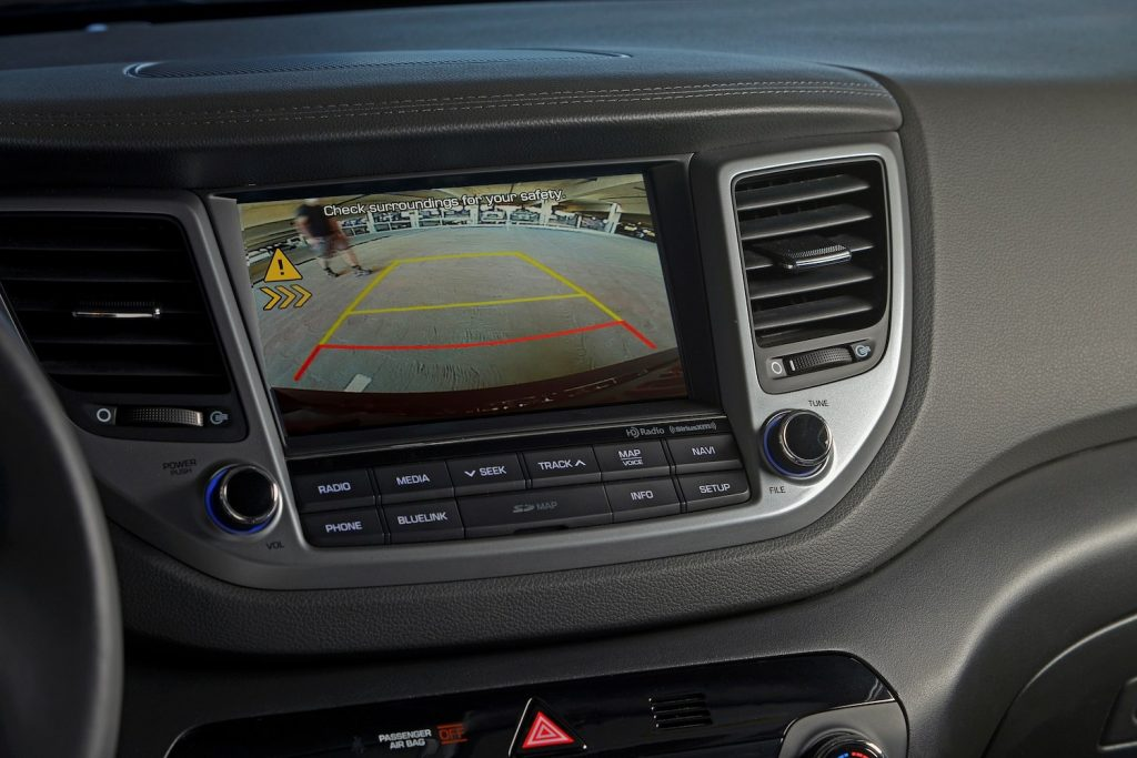The 2017 Tucson's rearview camera