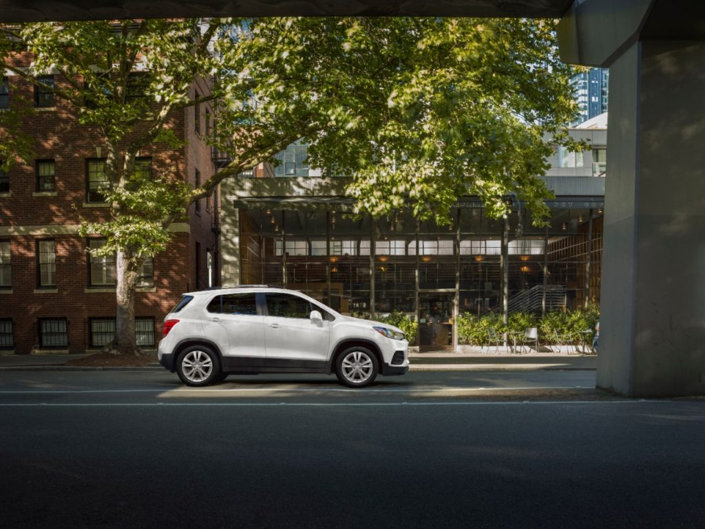 A photo of the Chevrolet Trax outdoors.