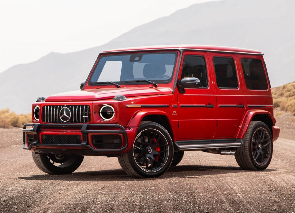 A red 2019 Mercedes-AMG G 63
