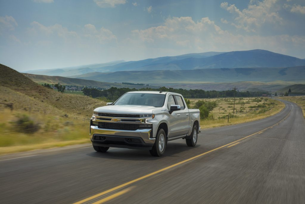A photo of the Chevrolet Silverado outdoors.