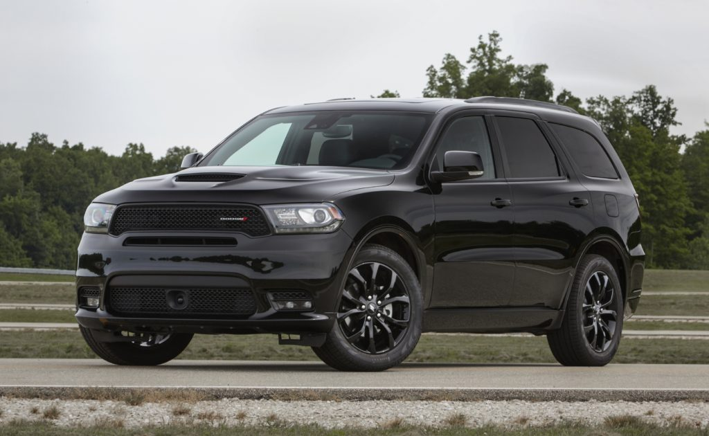 2020 Dodge Durango parked outside with trees in the background