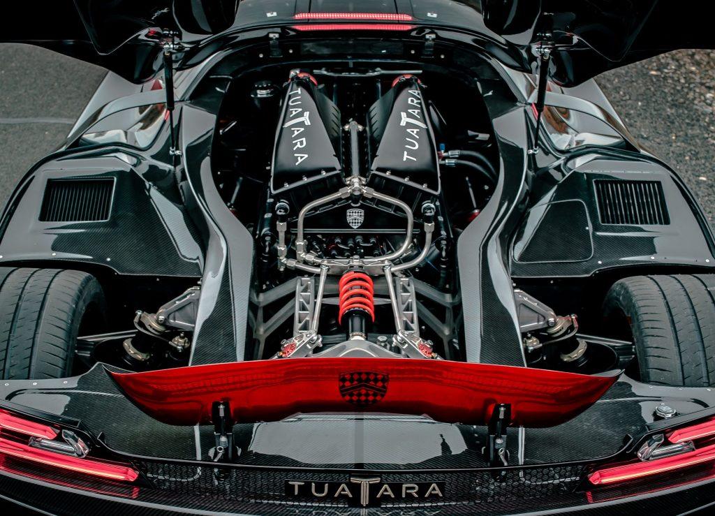 The 2020 SSC Tuatara's 5.9-liter twin-turbocharged V8