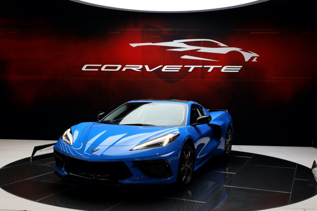 2020 Chevrolet Corvette is on display at the 112th Annual Chicago Auto Show