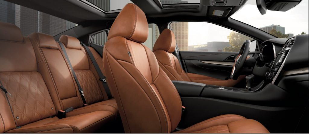 A 2020 Maxima with brown quilted leather.