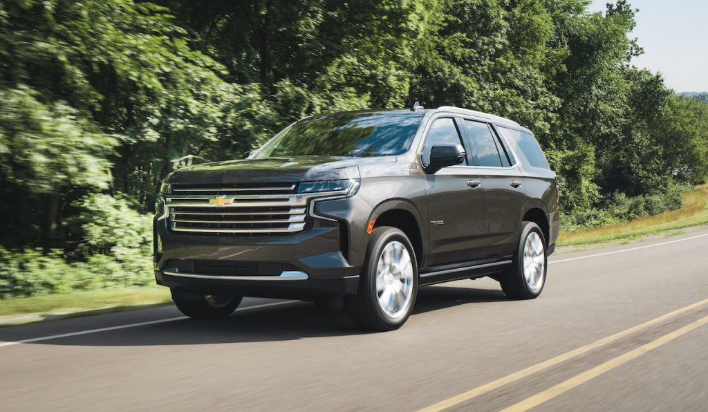 The Chevy Tahoe is a full-size SUV.