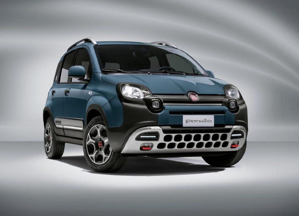 A blue 2021 Fiat Panda Cross