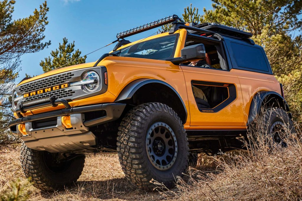 2021 Ford Bronco with donut doors