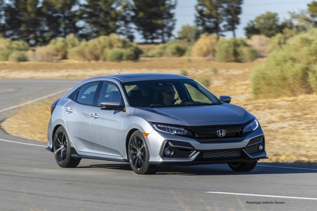 Silver 2021 Honda Civic Hatchback Sport Touring