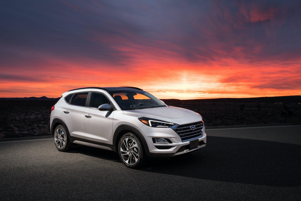 2021 Hyundai Tucson during sunset