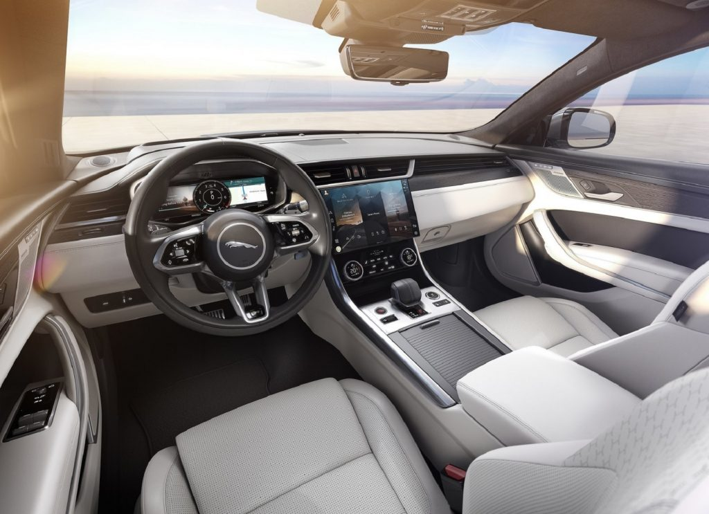 The 2021 Jaguar XF's front interior