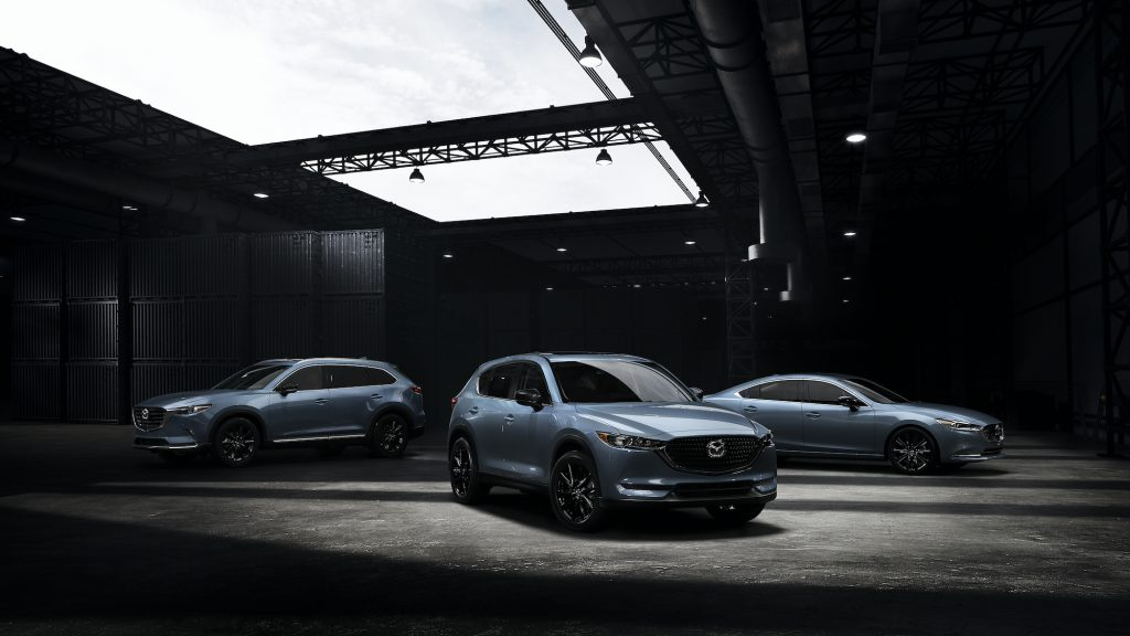 The 2021 Mazda Carbon Edition lineup – CX-5, CX-9, and Mazda6
