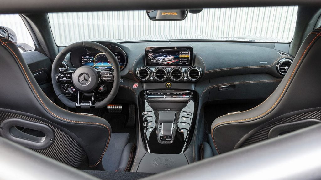 The 2021 Mercedes-AMG GT Black Series' interior