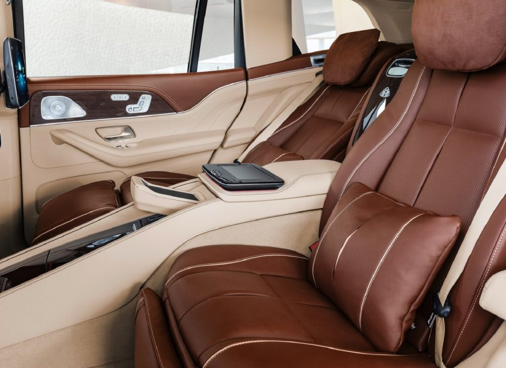 The 2021 Mercedes-Maybach GLS 600's reclining rear captain's seats