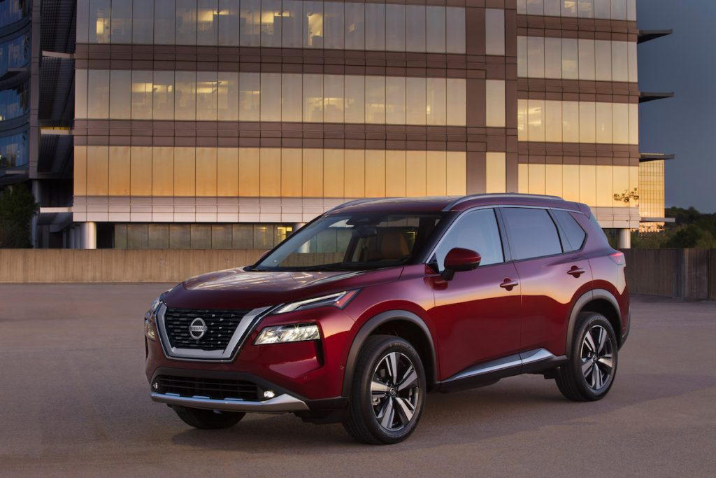red 2021 Nissan Rogue