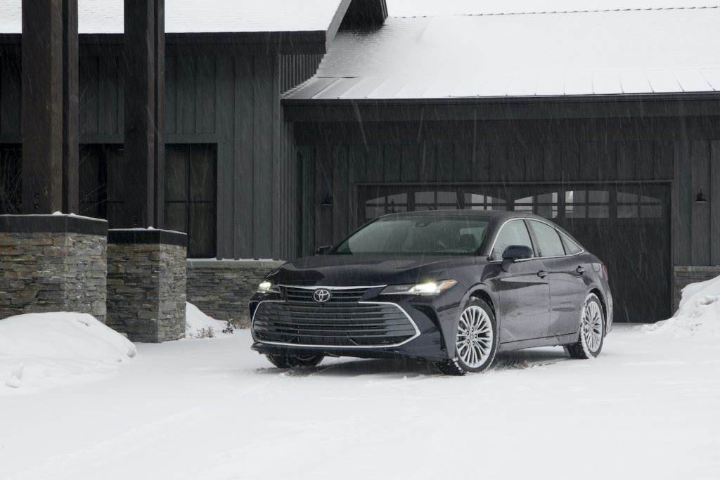 2021 Toyota Avalon in the snow