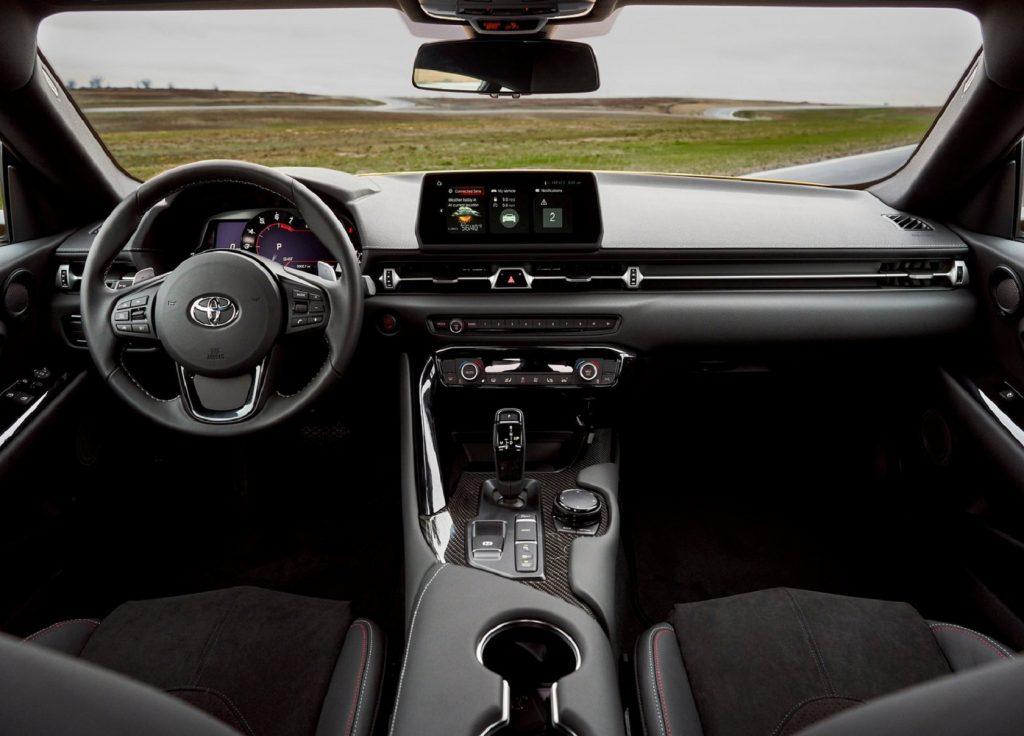 The 2021 Toyota Supra 3.0's interior